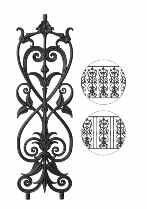 New element for cast iron railings BR26